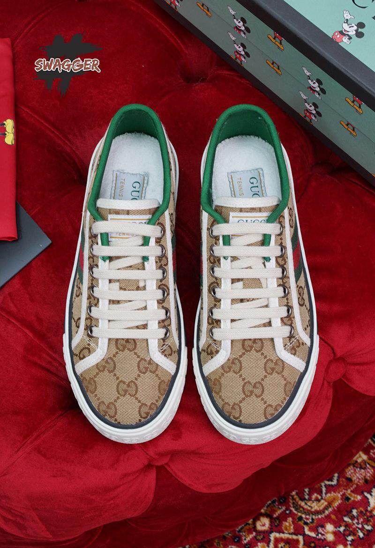 Giày Gucci Tennis 1977 Beige Like Authentic sử dụng chất liệu chính hãng chuẩn 99%