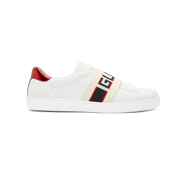 Giày Gucci White New ACE Elastic Band Sneakers Like Authentic