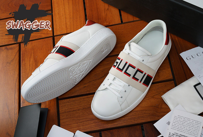 Giày Gucci White New ACE Elastic Band Sneakers Like Authentic, sử dụng chất liệu chính hãng chuẩn 99%