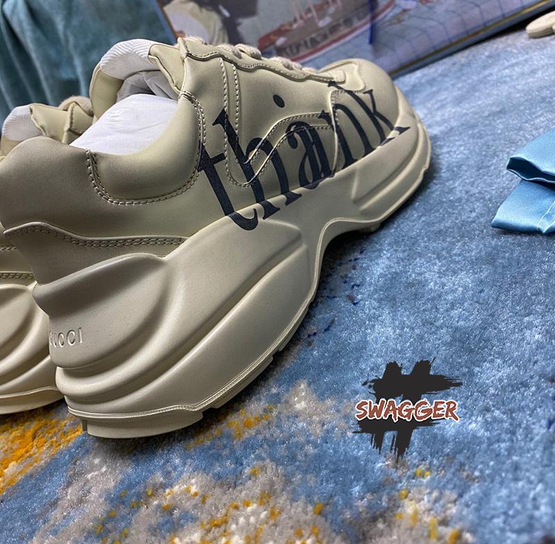Giày Gucci Rhyton Think/Thank Like Authentic ✅sử dụng chất liệu chính hãng ✅full box và phụ kiện, có chíp trong tem ✅ chuẩn 99% so với chính hãng ✅ swagger cam kết chất lượng tốt nhất hiện nay