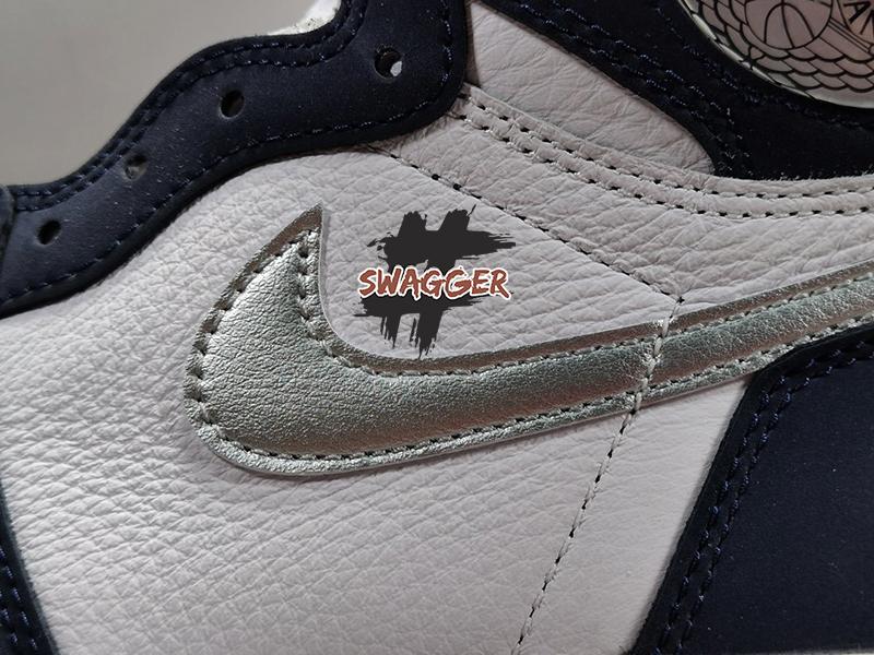 Giày Nike AirJordan 1 Retro High COJP Midnight Navy Pk God Factory sử dụng chất liệu chính hãng chuẩn 99%