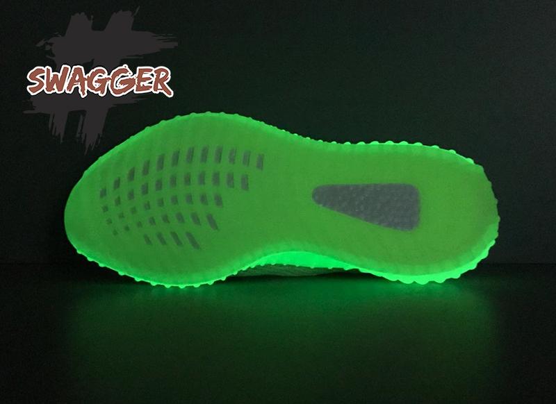 Giày Adidas Yeezy 350 V2 Glow Pk God Factory sử dụng chất liệu chính hãng chuẩn 99%