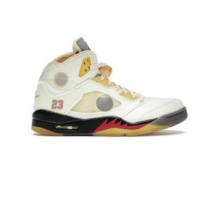 Giày Nike Air Jordan 5 Retro Off White Sail Pk God Factory