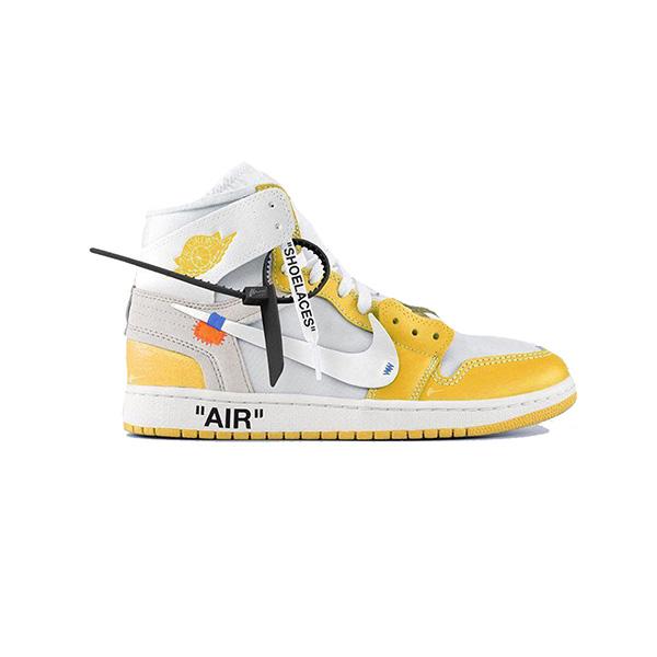 Giày Nike Jordan 1 Off White Canary Yellow Pk God Factory