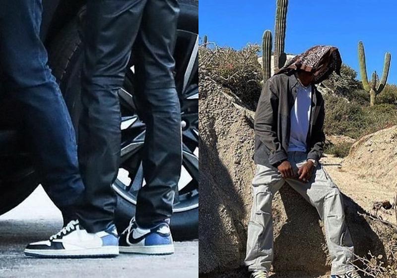 Nike Air Jordan 1 Low Travis Scott UNC Obsidian Những Hình Ảnh Hé Lộ Đầu Tiên