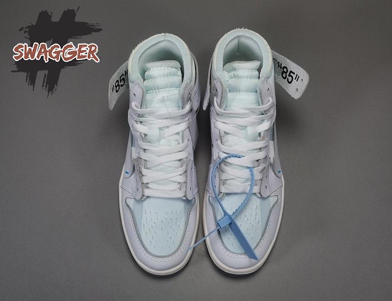 Giày Nike Air Jordan 1 Off White White Pk God Factory sử dụng chất liệu chính hãng chuẩn 99%