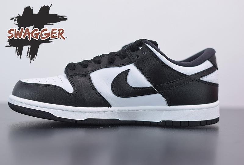 Giày nike dunk low retro white black Pk God Factory sử dụng chất liệu chính hãng chuẩn 99%