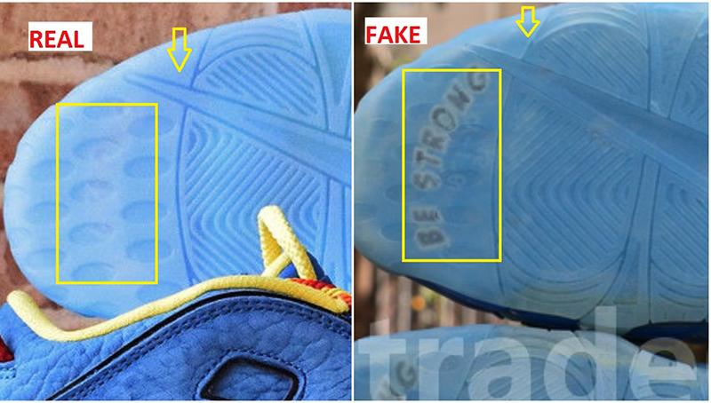 Hướng Dẫn Cách Phân Biệt / Check Đôi Giày Nike Uptempo Real Và Fake