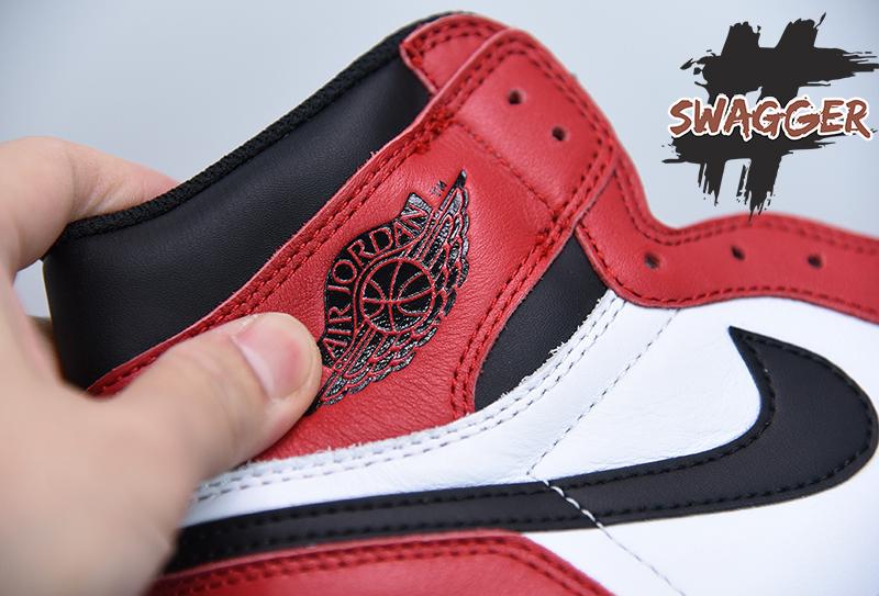 giày nike jordan 1 chicago pk god sử dụng chất liệu chính hãng chuẩn 99%