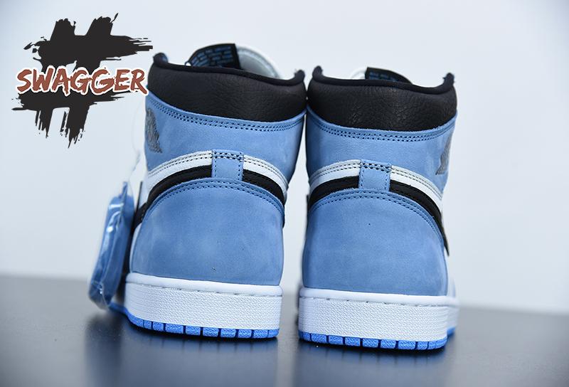 Giày Nike Air Jordan 1 High University Blue Pk God Factory sử dụng chất liệu chính hãng chuẩn 99%