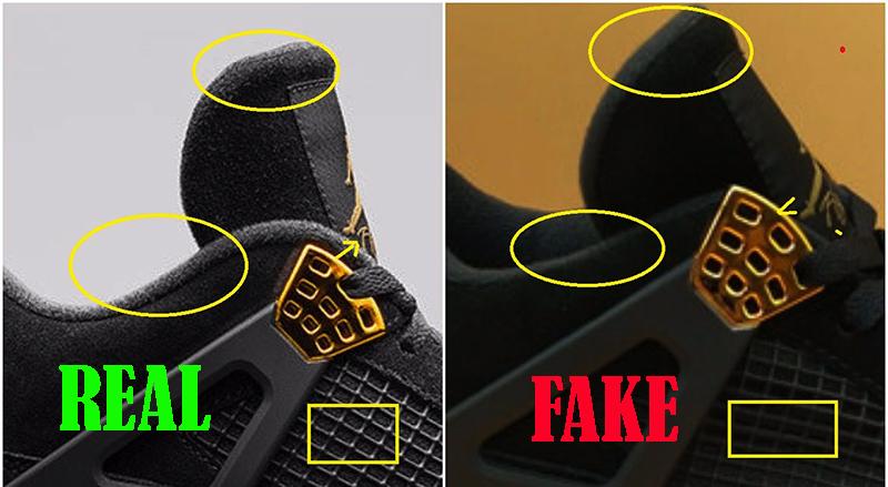 jordan 4 royalty real vs fake