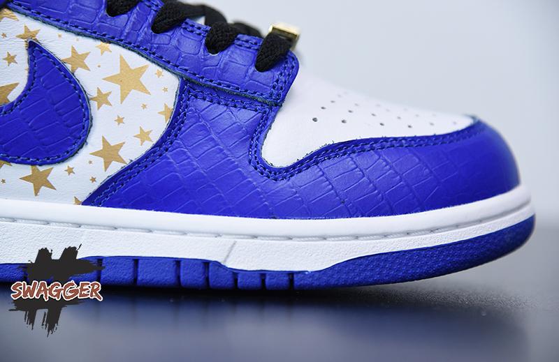 Giày Nike Sb Dunk Supreme Stars Hyper Royal 2021 Pk God Factory