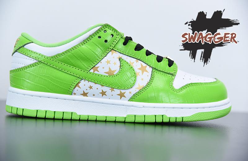 Giày Nike Sb Dunk Supreme Stars Mean Green 2021 Pk God Factory
