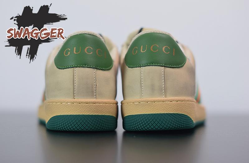 Giày Gucci Screener Leather Xanh Like Authentic sử dụng chất liệu chính hãng chuẩn 99%