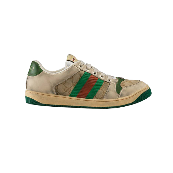 Giày Gucci Screener Leather Sneaker Blue Like Authentic