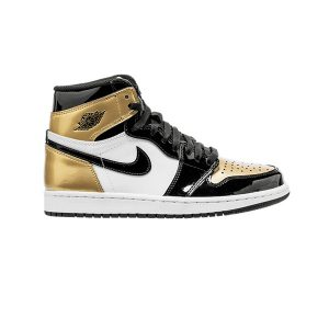 Giày Nike Air Jordan 1 Patent Gold Toe Pk God Factory