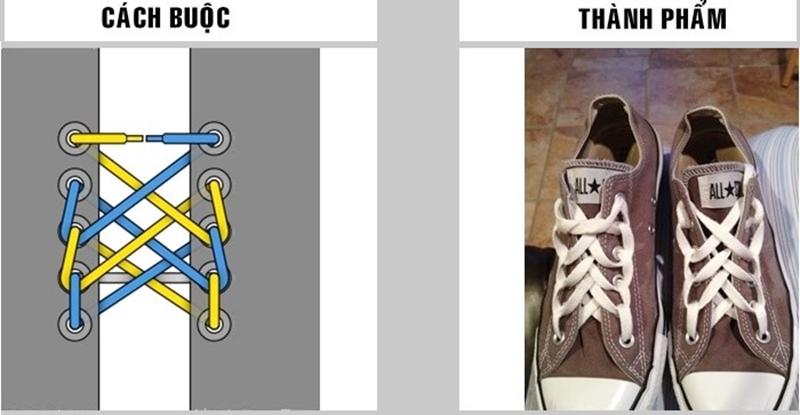 Hướng dẫn cách buộc dây giày đẹp 5 lỗ