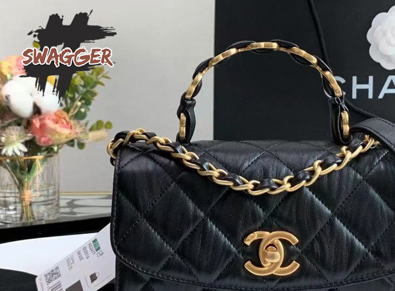 Túi Xách Chanel Mini Flap Bag With Top Handle Like Authentic