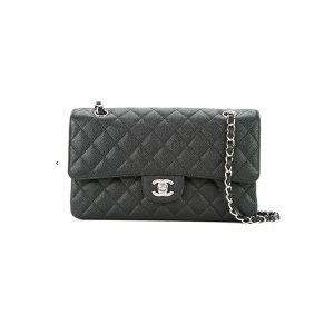Túi Xách Chanel  Classic Flap Bag Black Silver Like Authentic