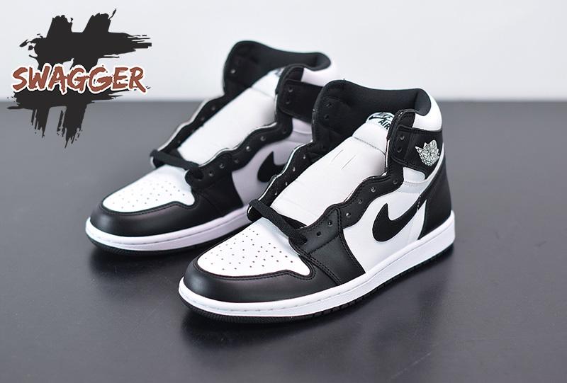 Giày Nike Air Jordan 1 Black White Pk God Factory sử dụng chất liệu chính hãng, chuẩn 99% cam kết chất lượng tốt nhất