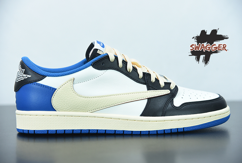 Giày Nike Air Jordan 1Travis Scott Fragment Low Pk God Factory sử dựng chất liệu chính hãng chuẩn 99%