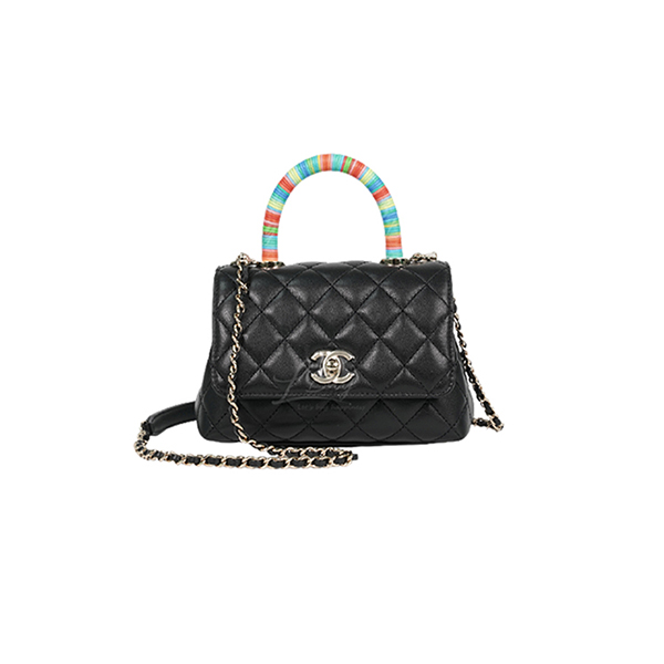 Túi Xách Chanel Mini Flap Bag With Top Handle Black Like Authentic
