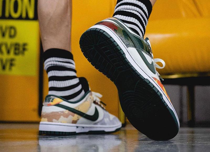Giày Nike Dunk Low SE Multi Camo DH0957-100 chất lượng pk god, sử dụng chất liệu chính hãng, chuẩn 99% cam kết chất lượng tốt nhất best quality