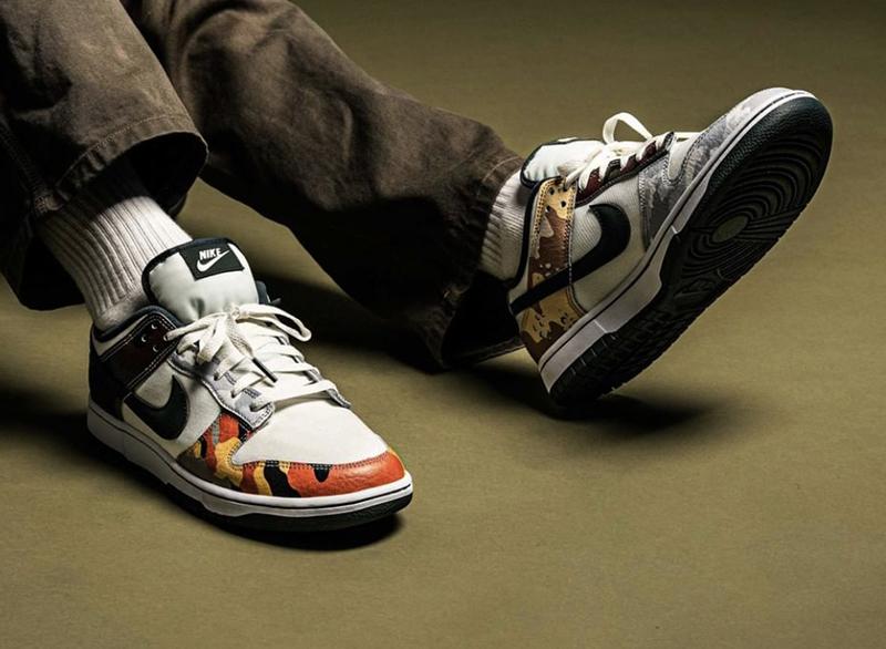 Giày Nike Dunk Low SE Multi Camo DH0957-100 chất lượng pk god, sử dụng chất liệu chính hãng, chuẩn 99%