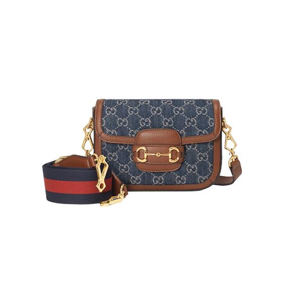 Túi Xách Gucci 1955 Horsebit Bag Mini Blue Like Authentic