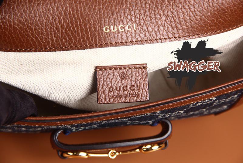 Túi Xách Gucci 1955 Horsebit Bag Mini Blue Like Authentic sử dụng chất liệu da nguyên bản như chính hãng, sản xuất hoàn toàn bằng thủ công, chuẩn 99%