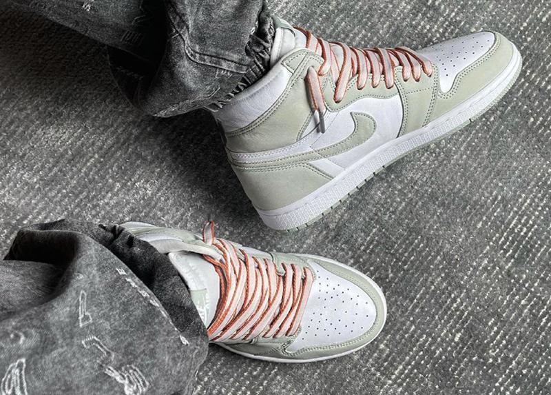 Giày Nike Air Jordan 1 High OG Seafoam CD0461-002 sử dụng chất liệu chính hãng, sản xuất ở nhà máy pk god, chuẩn 99% full box và phụ kiện