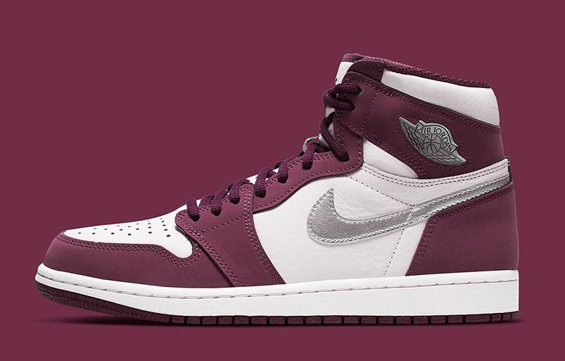 Giày Nike Air Jordan 1 Retro High Bordeaux 555088-611 chất lượng pk god sử dụng chất liệu chính hãng, chuẩn 99% cam kết chất lượng tốt nhất