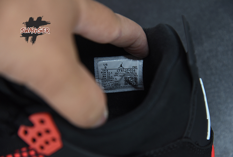 Giày Nike Air Jordan 4 Red Thunder CT8527-016 chất lượng pk god sử dụng chất liệu chính hãng, chuẩn 99% cam kết chất lượng tốt nhất