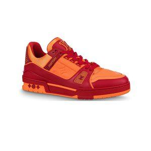 Giày Louis Vuitton Trainer Bordeaux Red Like Authentic