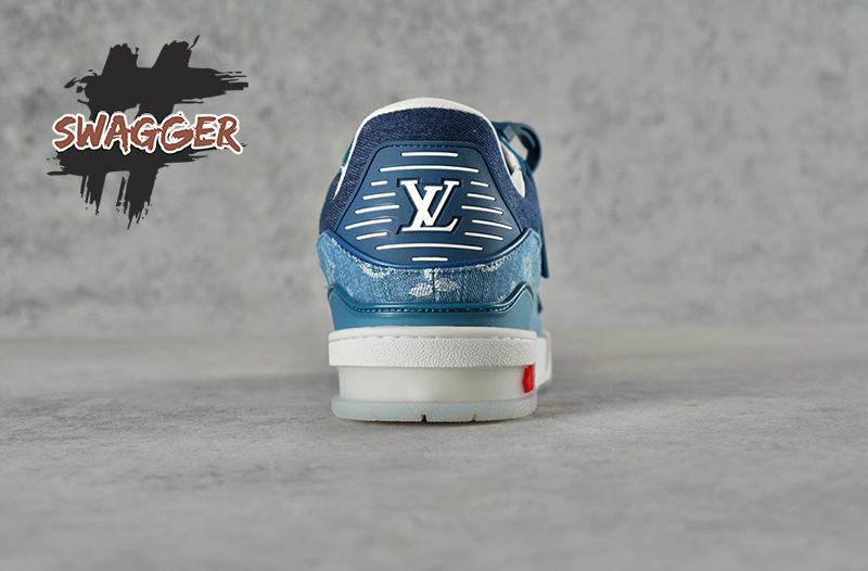 Giày Louis Vuitton Trainer Monogram Denim Like Authentic sử dụng chất liệu chính hãng, cam kết chất lượng tốt nhất
