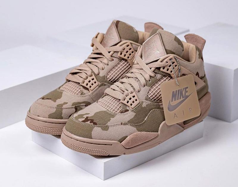 Giày Nike Air Jordan 4 Camo Aleali May DJ1193-200