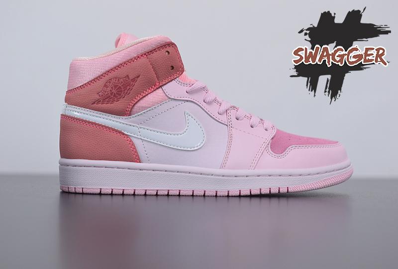 Giày Nike Air Jordan 1 Mid Digital Pink - CW5379-600 pk god sử dụng chất lượng pk god factory, cam kết chất lượng tốt nhất, nhận ship cod toàn quốc