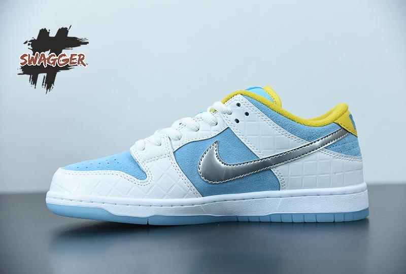 Giày Nike Sb Dunk FTC Pk God Factory sử dụng chất liệu chính hãng, chuẩn 99%