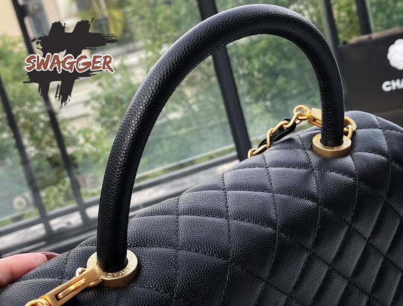 Túi Xách Chanel Coco Handle black Like Authentic sử dụng chất liệu da nguyên bản như chính hãng, sản xuất hoàn toàn bằng thủ công, chuẩn 99% chất lượng tốt nhất