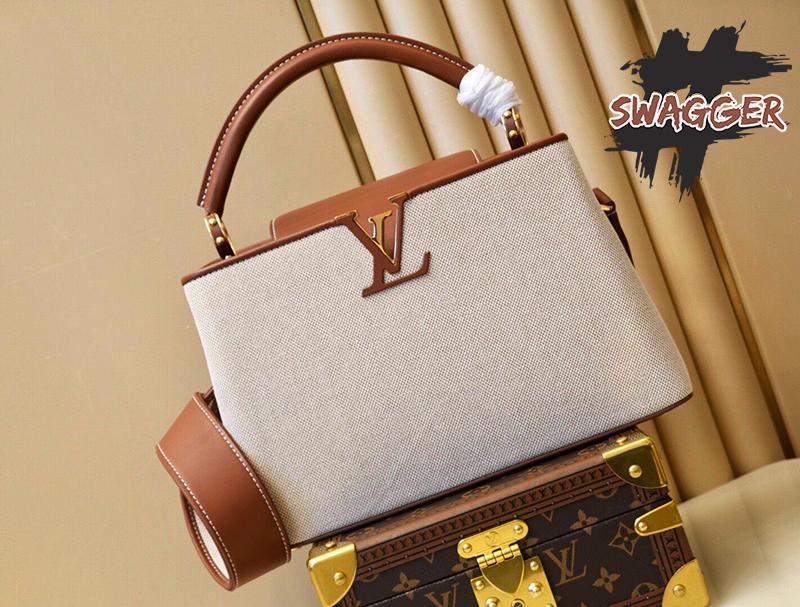 Túi Xách Louis Vuitton Capucines 2021 M57361 Like Authentic sử dụng chất liệu chính hãng, sản xuất bằng thủ công, cam kết chất lượng tốt nhất. kim loại mạ vàng 24k. full box và phụ kiên, hổ trợ trả góp 0% bằng thẻ tín dụng