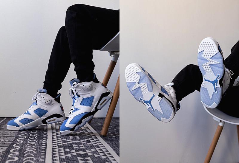 Giày Nike air jordan 6 UNC Pk God Factory sử dụng chất liệu chính hãng, chuẩn 99% full box và phụ kiện cam kết chất lượng tốt nhất, bảo hành keo trọn đời, ship toàn quốc
